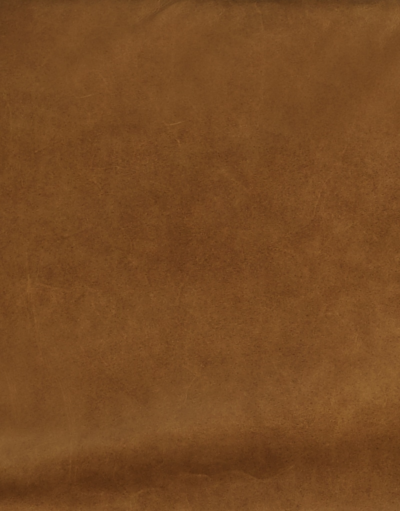 Cognac aniline leather