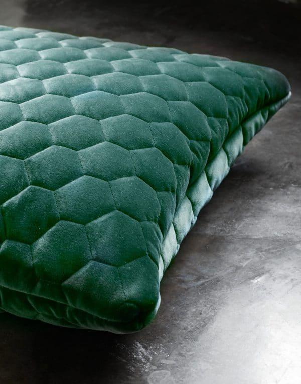 Diamond pillow evergreen