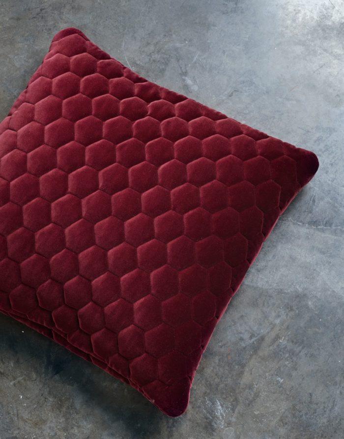 DIAMOND pillows velvet ruby