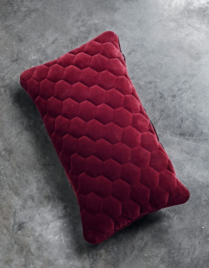 DIAMOND pillows velvet ruby