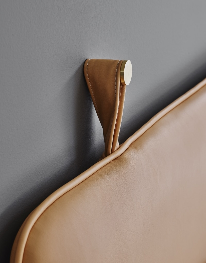 Brass hooks for headboard