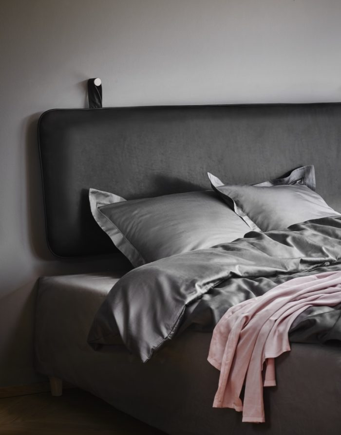 The M leather headboard