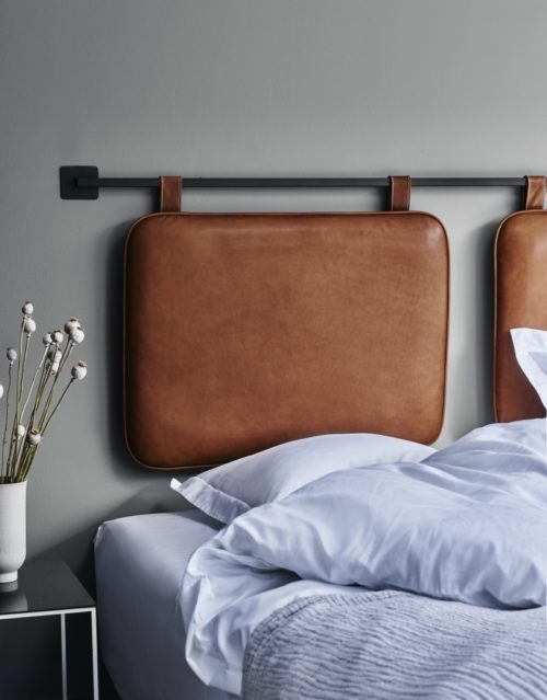 Duo leather headboard